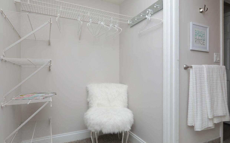 Arbor Gates at Buckhead spacious bedroom closet.